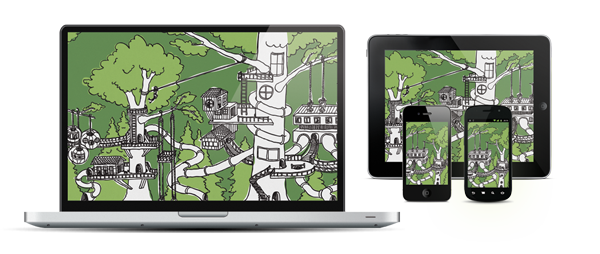"As with all of new mural designs, ""The TreeHouse"" is available as a free wallpaper download in many sizes."