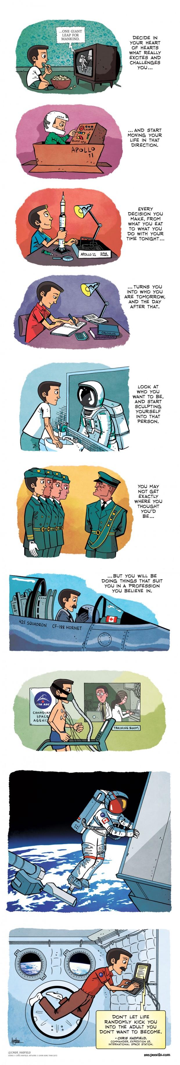 Chris Hadfield Advice - Comic