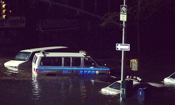 Instagram user bobbyjohnwalker captured this image of floods in NYC