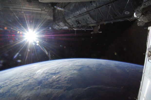 View of Earth from the NASA Space Station. Image from NASA