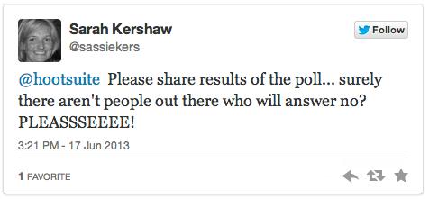 Surprised work tweet - poll