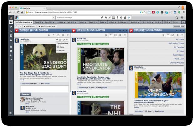 YouTube Analytics - screen 1
