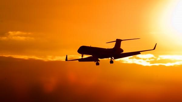 sunset-airplane