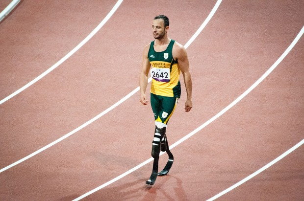 Oscar Pistorius, seen here in 2012 before the incident occured.