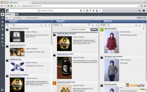 You have the ability to share your listings with all your social networks in HootSuite