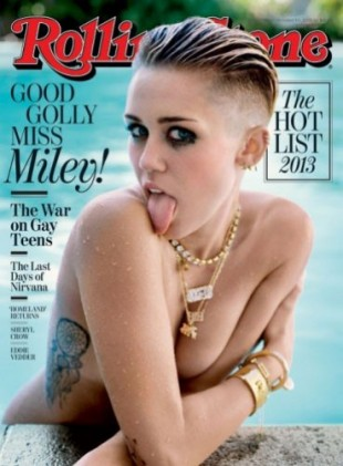 Miley on the cover of Rolling Stone Mag this week