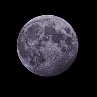 Partial Lunar Eclipse. Image by Dan L Ward