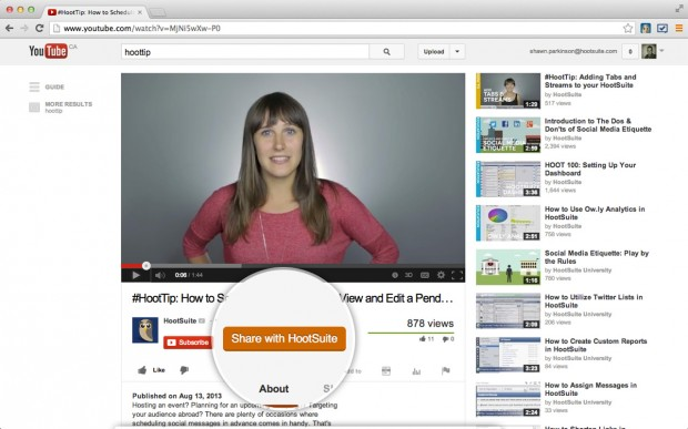 The Hootlet makes sharing media, from YouTube videos to Instagram photos, a quick and easy process.
