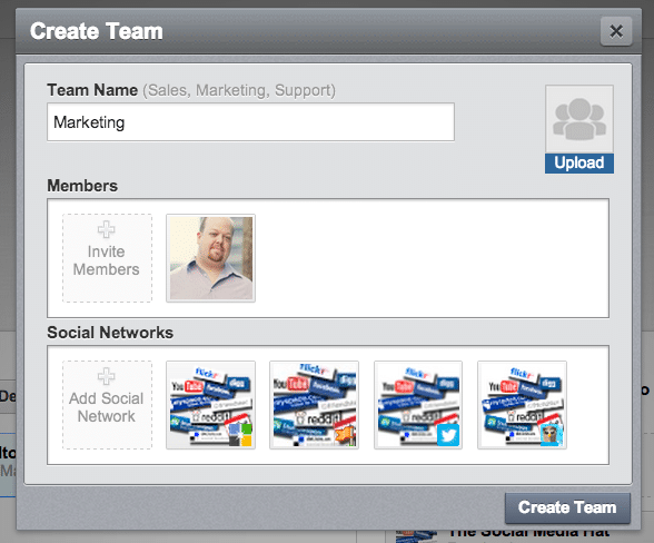 How to create a team within HootSuite