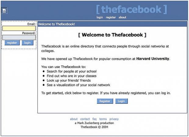 Facebook Circa 2004