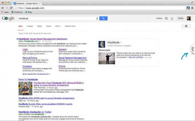 hootlet for google tab