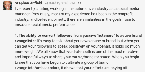 Measure your social media performance post Stephen Anfield