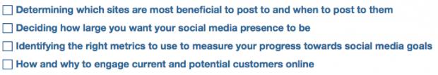 Social Media Strategy Guide Pt 1 Checklist