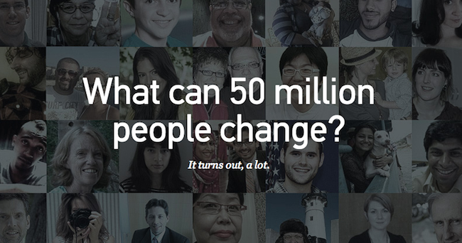 What Can 50 Million People Change?