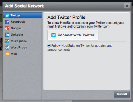 How to Add a Social Network