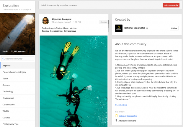 Reasons to Use Google+ Communities - Exploration