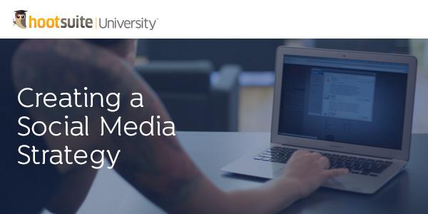 creating a social media strategy header- Use analytics to track progress