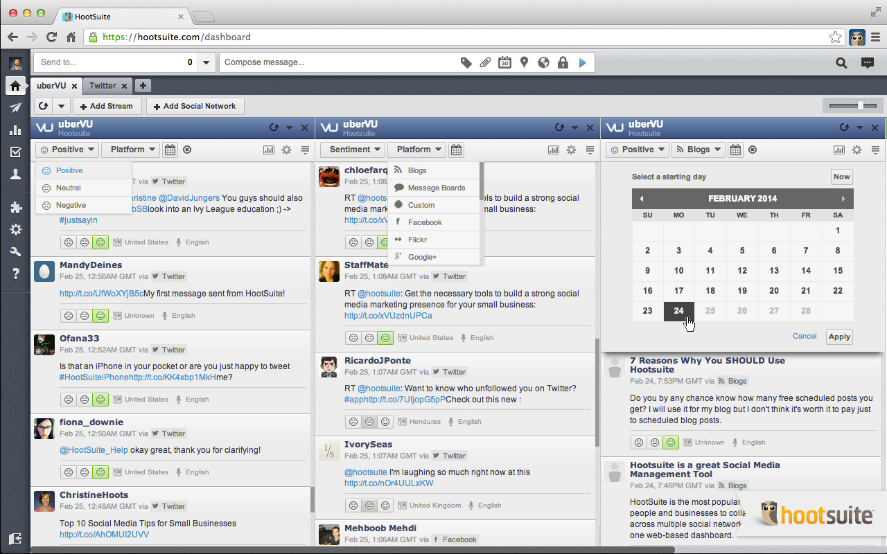 how to use hootsuite pro