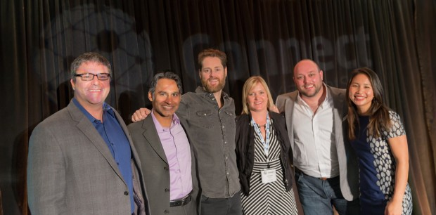 From left to right: Dr Ward Newhouse School of Communications - Sanjay Dholakia, Marketo, - Ryan Holmes, HootSuite CEO -  Jeanette Gibson, VP Customer Success HootSuite - Jaime Stein, Social Media ING Direct -  Karen Lee, Social Media Stanford Graduate School of Business