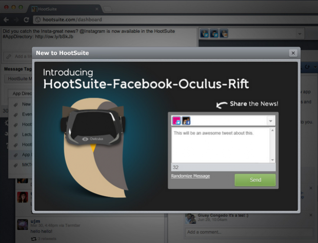 Introducing the VR Dashboard: HootSuite Announces Oculus Rift Integration