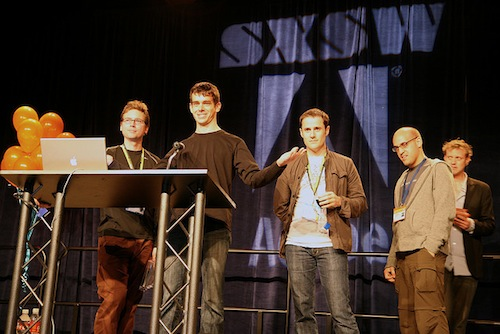 Twitter Wins SXSW Web Award 2007. Image by Scott Beale  via flickr