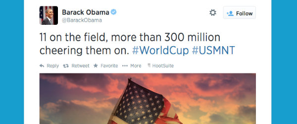 @BarackObama tweets