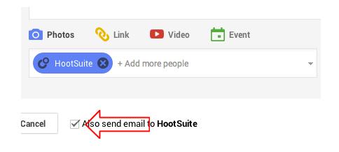 Choose the right Google Plus circle