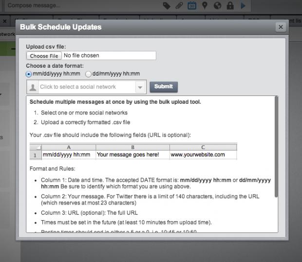 Community Management with Hootsuite's bulk scheduler