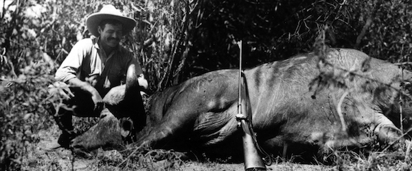 Ernest Hemingway on Safari, 1933. Image via Wikipedia Commons
