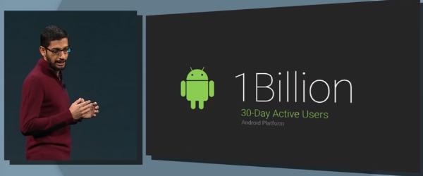 Google's Senior VP Sundar Pichai steps onto the stage for the  Google I/O 2014 keynote address.