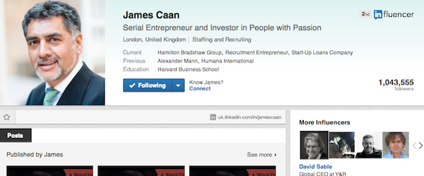 James Caan - LinkedIn Followers