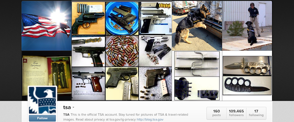 A screenshot of the  TSA Instagram feed