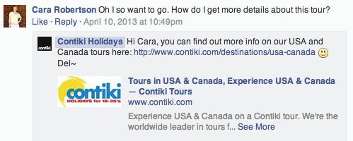 social media for tourism contiki holidays facebook strategy