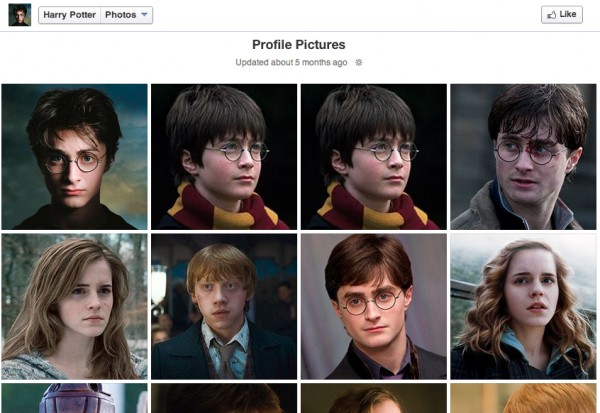 harry potter social media pictures