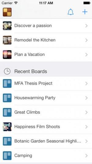 Trello mobile work app