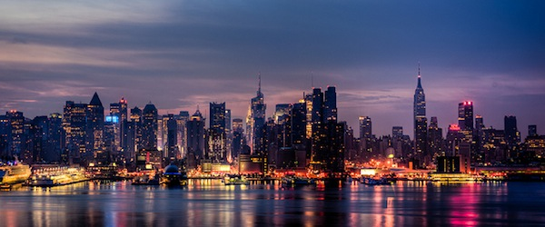 Magic at sunrise looking towards New York City. Photo by Eric, via Flickr