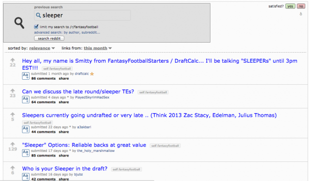 How to win fantasy football with reddit