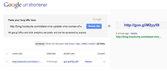 This image highlights the Google URL Shortener