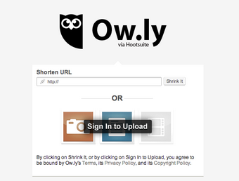 This image shows that you can shorten your url via the Ow.ly URL Shortener