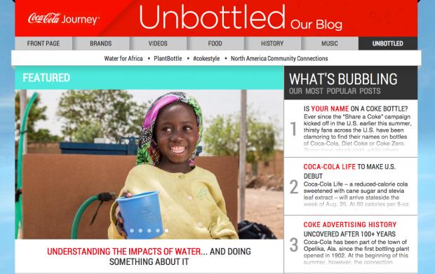 Coke Unbottled Blog