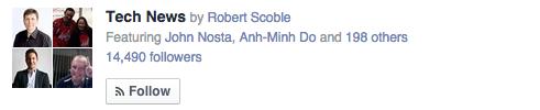 Facebook Interest List Example - social network features