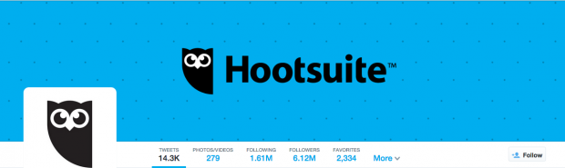 Hootsuite's Twitter page image for the Social Media Campaign blog post