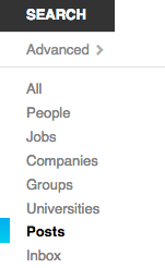 LinkedIn Posts Search - Social Network Features