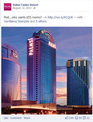 Palms Hotel campaign