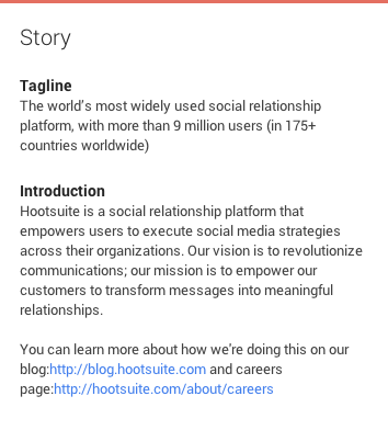 Social Media Profiles - Google+ Story