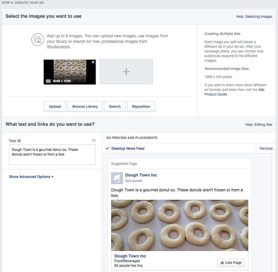 Social media advertising - Facebook ad build