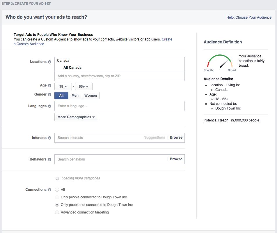 Social media advertising - Facebook ad targeting
