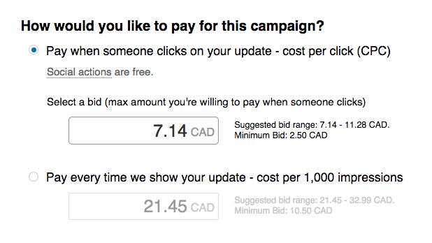 Social media advertising - LinkedIn ad budget