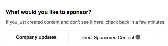 Social media advertising - LinkedIn ad type
