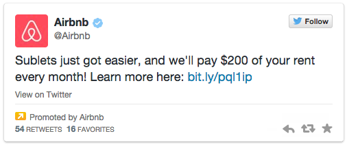 Twitter ad example